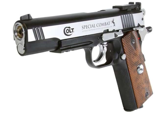 Colt Special Combat Pstol Colt 2254025 zm2 666x476 - Pistola Pressao Colt M1911 Special 4,5mm
