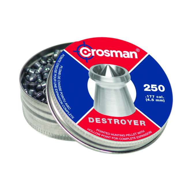 chumbinho crosman destroyer 45mm 250pc 666x666 - Chumbinho Crosman Destroyer 4,5mm 250pc