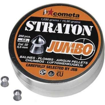 chumbinho jsb jumbo strato 55mm 250 366x366 - Chumbinho JSB Jumbo Straton 5,5mm 250und