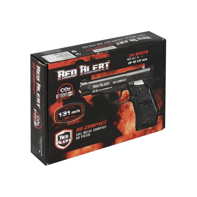 pistola de pressao gamo red alert compact co2 45mm - Pistola de Pressão Gamo Red Alert Compact CO2 4,5mm