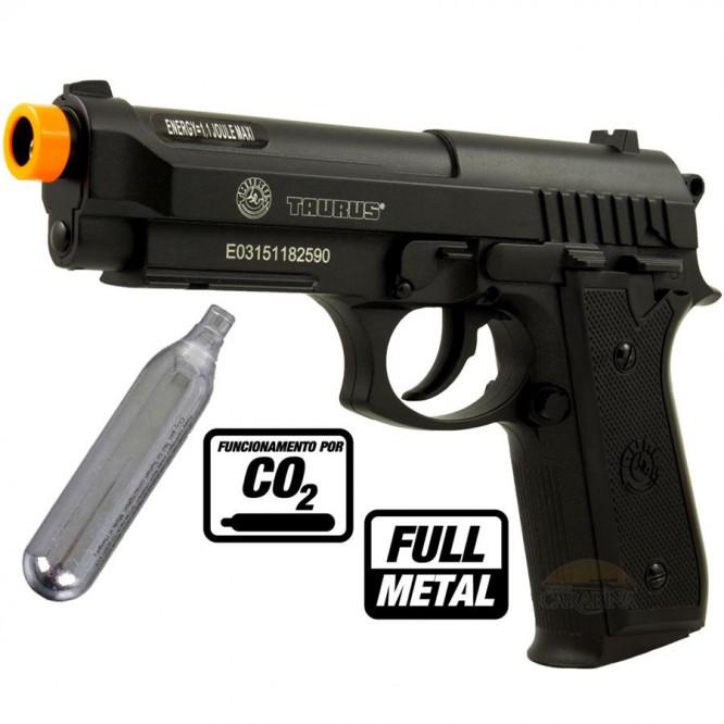 pistola pressao cybergun taurus pt92 666x666 - Pistola Airsoft Cybergun Taurus PT92 CO2 Full Metal