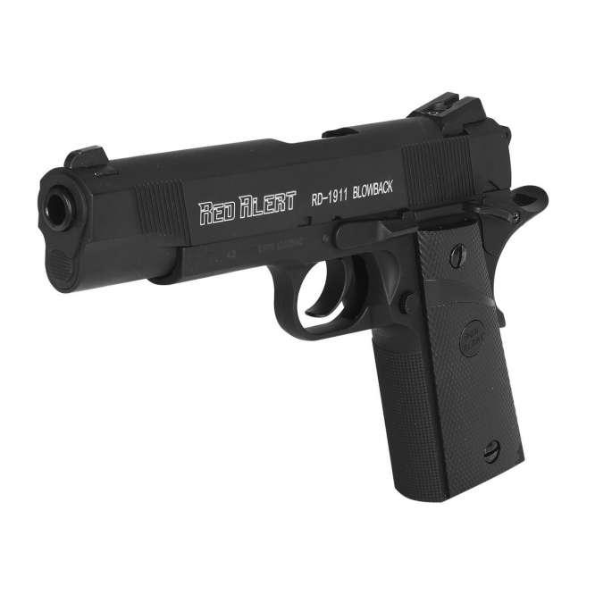 pistola pressao gamo rail gun 1911 braw 45mm 1 666x666 - Pistola de Pressão Gamo Red Alert 1911 CO2 Blow Back 4,5mm