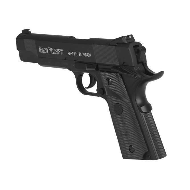 pistola pressao gamo rail gun 1911 braw 45mm 2 666x666 - Pistola de Pressão Gamo Red Alert 1911 CO2 Blow Back 4,5mm