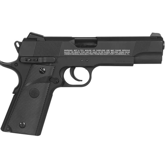 pistola pressao gamo rail gun 1911 braw 45mm 3 666x666 - Pistola de Pressão Gamo Red Alert 1911 CO2 Blow Back 4,5mm