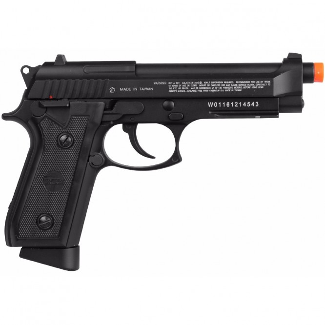 pistola pressao swiss ar p92 4.5 1 666x666 - Pistola de Pressão CO2 Swiss Arms P92 4.5mm Full Metal BlowBack