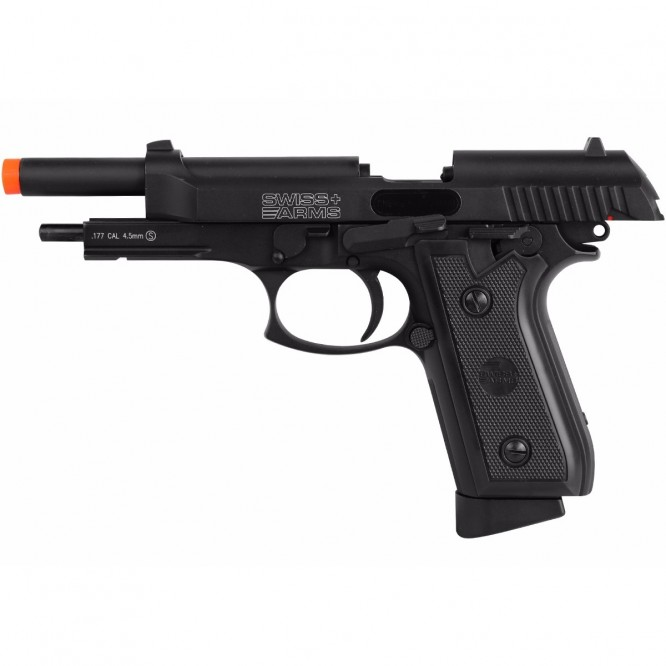 pistola pressao swiss ar p92 4.5 2 666x666 - Pistola de Pressão CO2 Swiss Arms P92 4.5mm Full Metal BlowBack