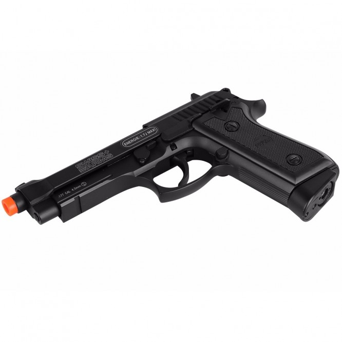 pistola pressao swiss ar p92 4.5 4 666x666 - Pistola de Pressão CO2 Swiss Arms P92 4.5mm Full Metal BlowBack