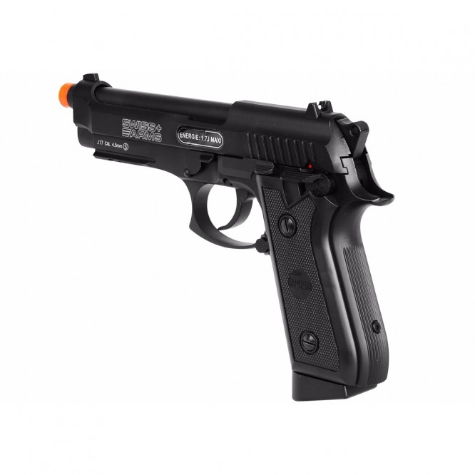 pistola pressao swiss ar p92 4.5 5 666x666 - Pistola de Pressão CO2 Swiss Arms P92 4.5mm Full Metal BlowBack