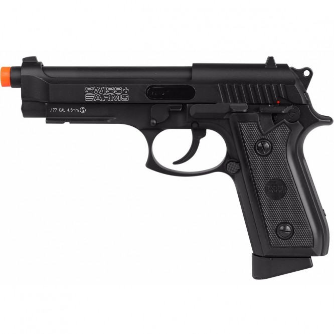 pistola pressao swiss ar p92 4.5 666x666 - Pistola de Pressão CO2 Swiss Arms P92 4.5mm Full Metal BlowBack