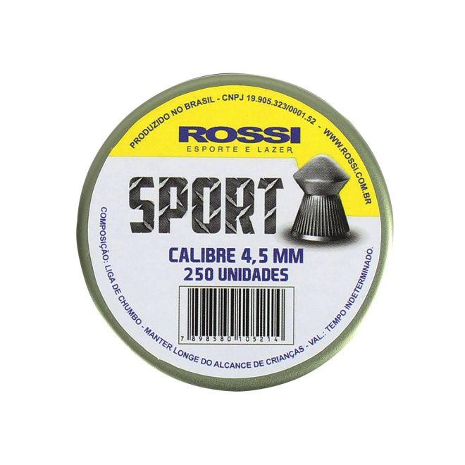 chumbinho rossi sport 45mm 250 und - Chumbinho Rossi Sport 4,5mm (250 Und)