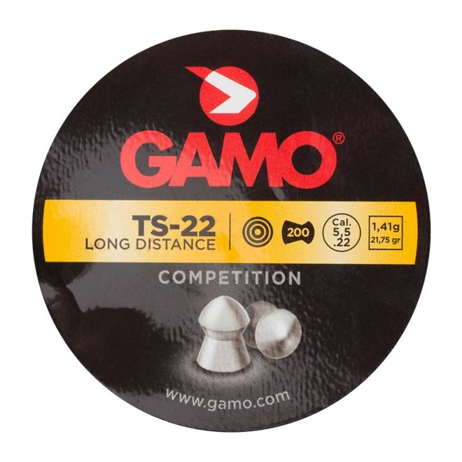 chumbinho gamo ts 22 long distance 5.5mm 2 - Chumbinho Gamo TS-22 Long Distance 5.5mm