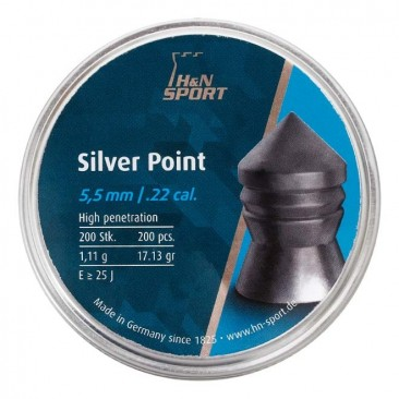 chumbinho hn silver point 5.5mm 1 366x366 - Chumbinho H&N Silver Point 5.5mm